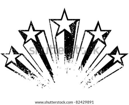 Shooting stars. Vector illustration. Stock photo ©
