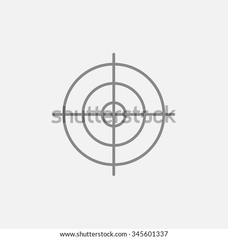 Shooting Target Line Icon For Web Mobile And Infographics Vector