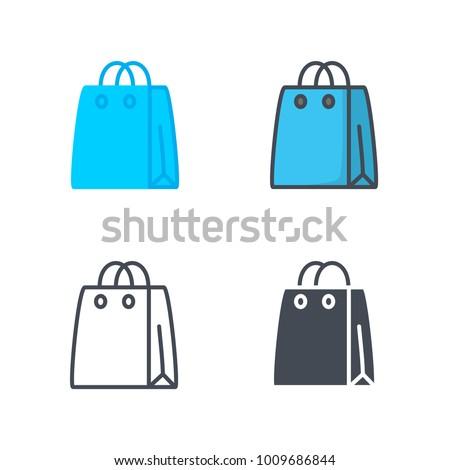 Shop bag vector icon