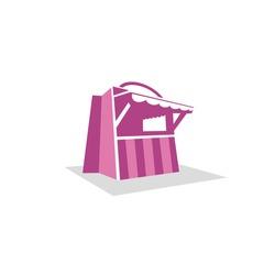 Shop biz logo design concept