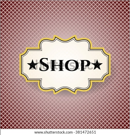 Shop card or banner