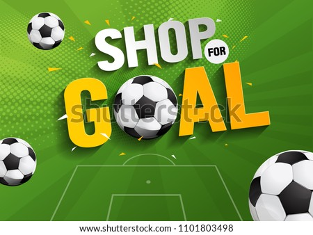shop for goal sale, vector illustration, you can place relevant content on the area.