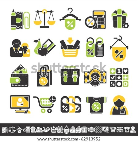 shop icons - stock vector