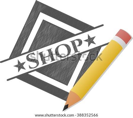 Shop pencil emblem