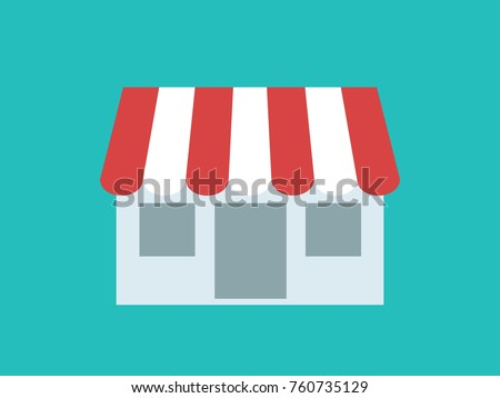 Shop store in flat style, vector illustration.