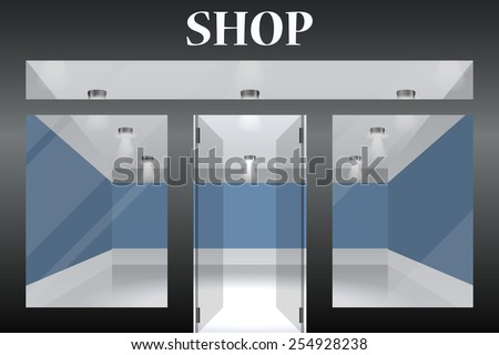 shop with glass windows and