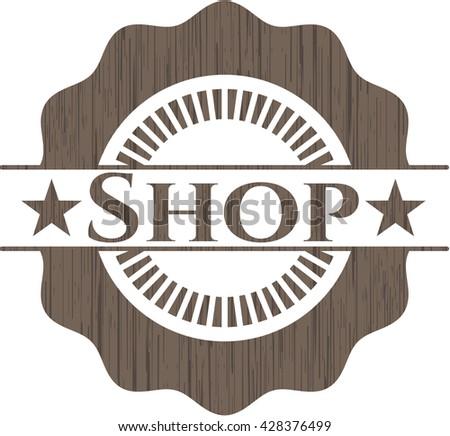 Shop wood emblem