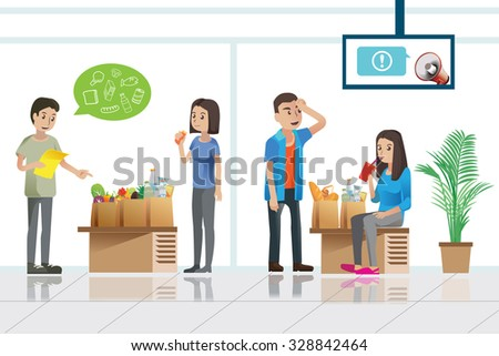 shopper waiting in service room