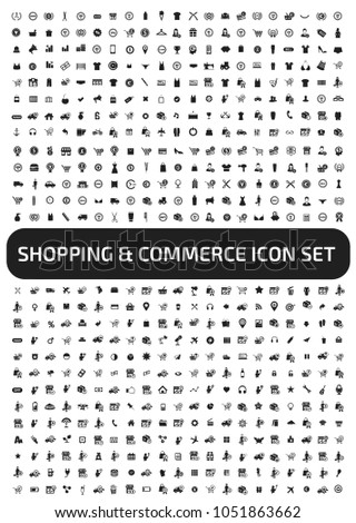 Shopping and commerce icon set vector design #1051863662
