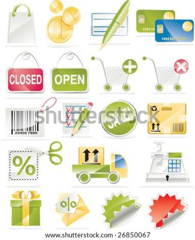 Shopping and Consumerism Icon Set