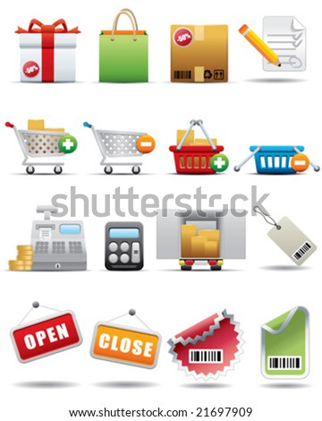 Shopping and Consumerism Icon Set -- Premium Series