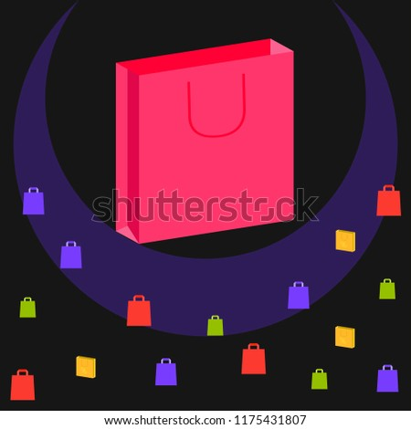 shopping autumn sale paper package vector background - Shutterstock ID 1175431807
