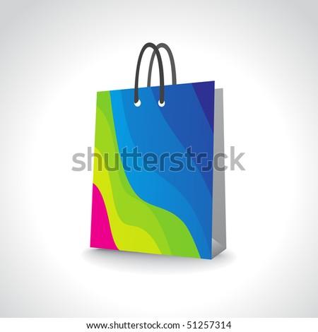 Shopping Bag, Add Your Own Design Or Logo, Vector Illustration ...