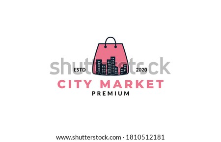 shopping bag and silhouette