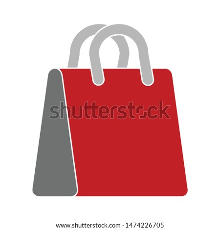 shopping bag design icon. flat illustration of shopping bag design vector icon. shopping bag design sign symbol