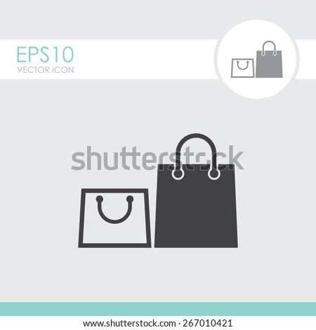 Shopping bag icon.