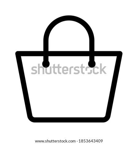 Shopping bag icon, basket sign isolated on white background