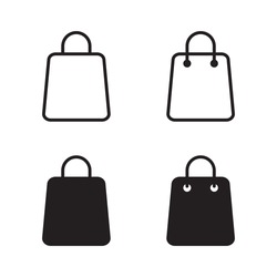 Shopping bag icon on white background