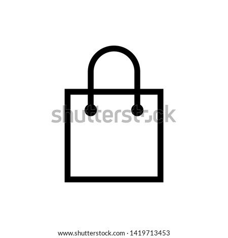 Shopping bag icon. Shopping bag vector icon