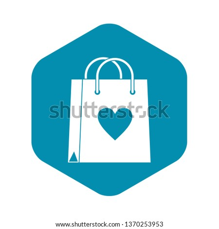 Shopping bag icon. Simple illustration of shopping bag vector icon for web