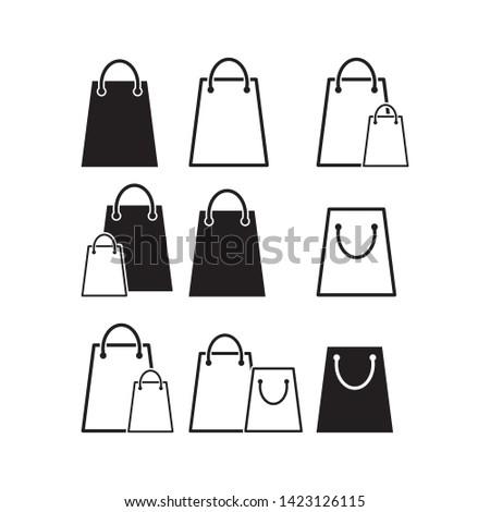 shopping bag icon vector design template