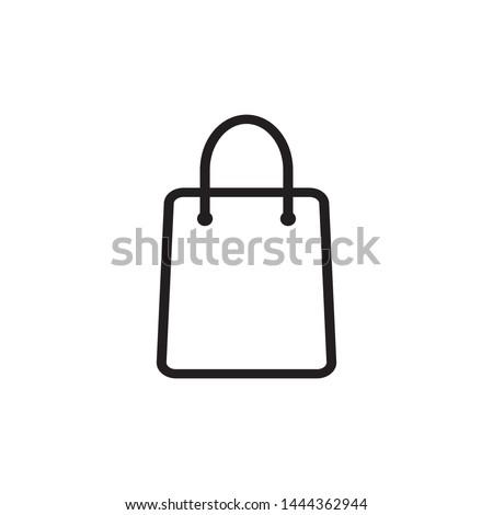shopping bag icon vector logo template