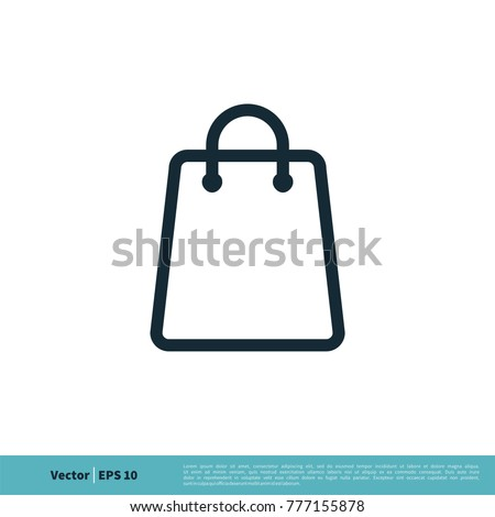 Shopping Bag Icon Vector Logo Template