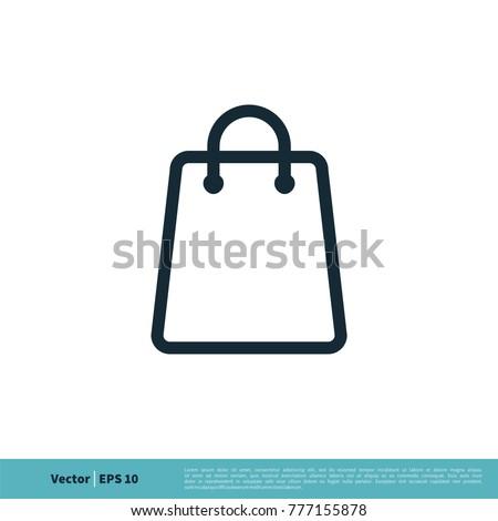 Shopping Bag Icon Vector Logo Template Illustration Design. Vector EPS 10.