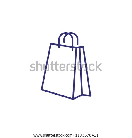 Shopping bag line icon. Package, purchase, gift. Shopping concept. Vector illustration can be used for topics like retail, consumerism, commerce