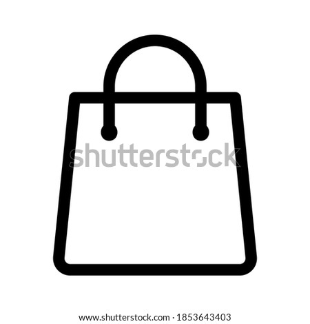 Shopping Bag Outline Icon. Pixel Perfect Vector Graphics