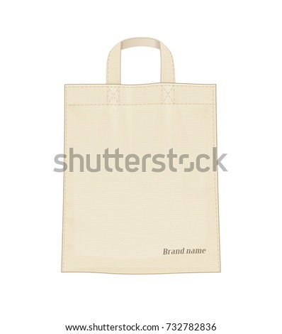 Shopping bag. Shop accessoryes for foodstuff. Bags mockup Isolated white background. Eps10 vector illustration.