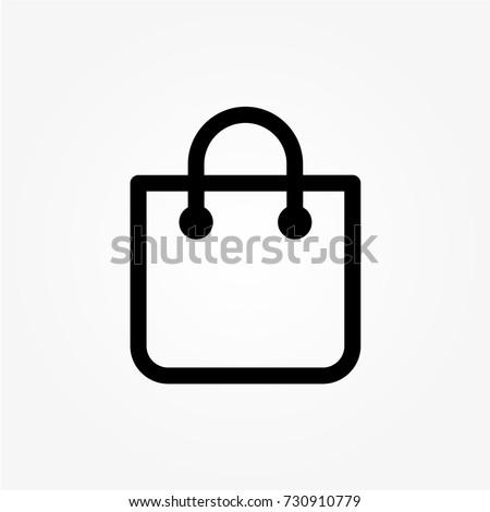 shopping bag - Vector icon shopping bag Icon Vector / shopping bag icon / shopping bag - Vector icon