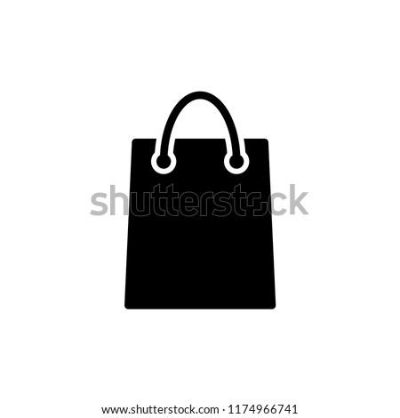 Shopping bag vector icon trendy