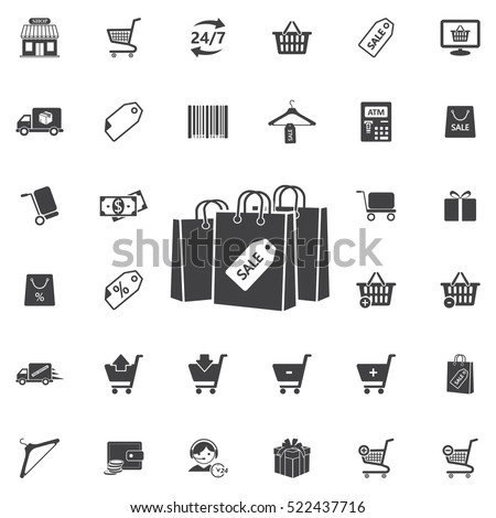 shopping bag vector icon. Universal Shop set of icons for web and mobile
