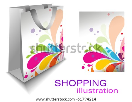 shopping bag , vector illustration.