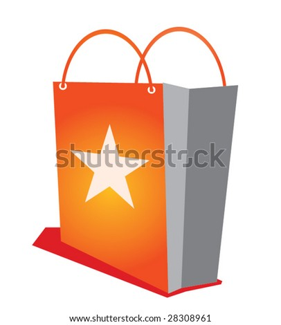 Shopping bag with star