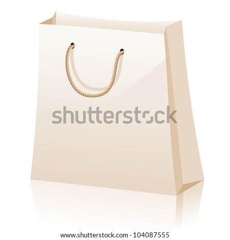 Shopping bags isolated on white background. Vector illustration.