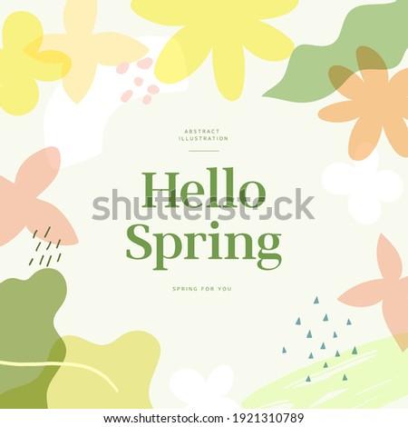 Shopping Banner Illustration Design. spring season patterns design