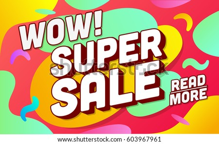 Shopping banner template. Sale and discounts. Vector illustration. Promotion template design for print or web, media, poster material.