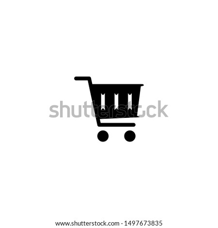 Shopping basket icon. Store cart sign