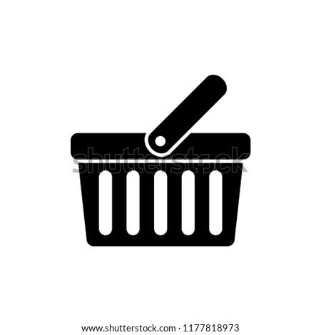 shopping basket icon vector template