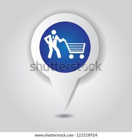 Shopping basket symbol,Vector