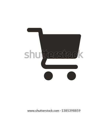 Shopping, basket vector icon. Simple element illustration from UI concept. Shopping, basket vector icon. Finance concept vector illustration.