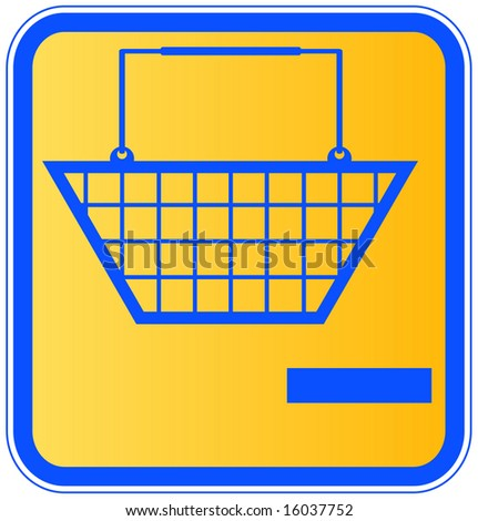 shopping basket with minus sign icon - take out of shopping cart