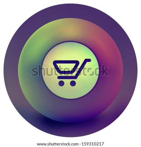 Shopping button. Vector collection.