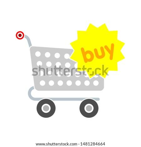 shopping cart buying icon. flat illustration of shopping cart buying vector icon. shopping cart buying sign symbol