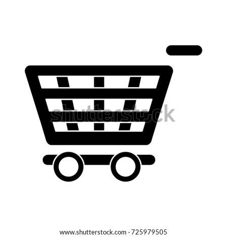 shopping cart empty flat iconv