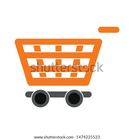 shopping cart empty icon. flat illustration of shopping cart empty vector icon. shopping cart empty sign symbol