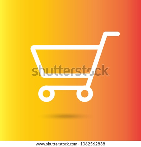 Shopping Cart flat icon, illustration concept