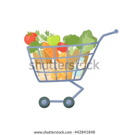 shopping cart full of products